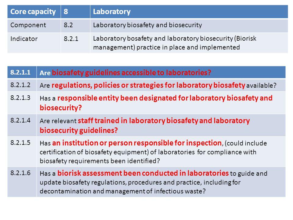 Core capacity 8 Laboratory Component 8.2