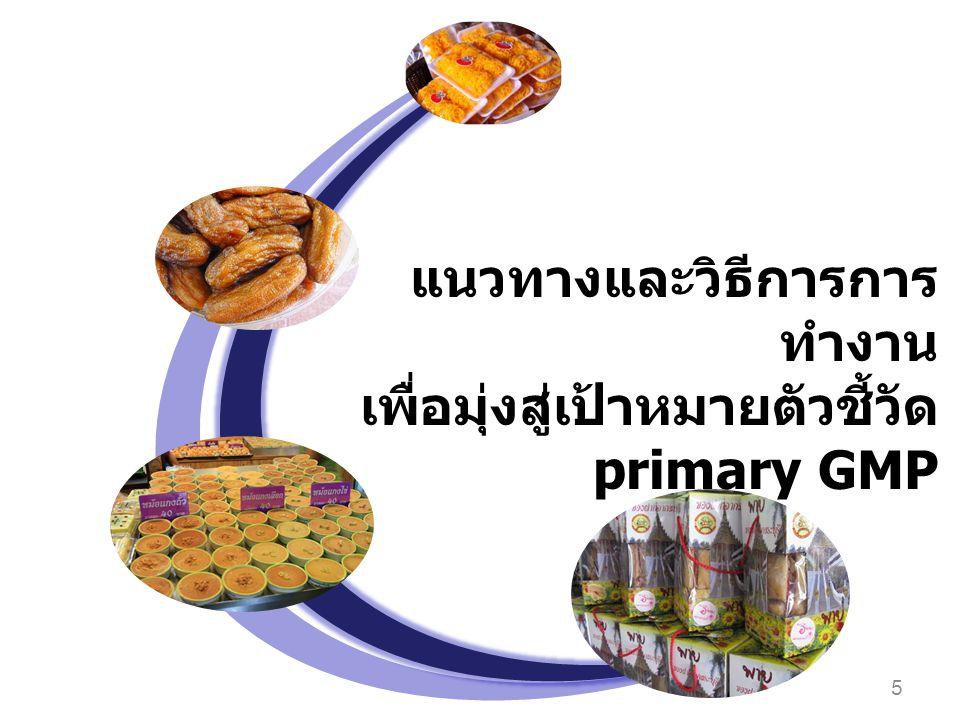 แนวทางและวิธีการการทำงาน เพื่อมุ่งสู่เป้าหมายตัวชี้วัด primary GMP