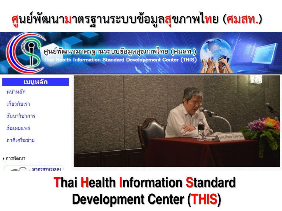 ศูนย์พัฒนามาตรฐานระบบข้อมูลสุขภาพไทย (ศมสท.)