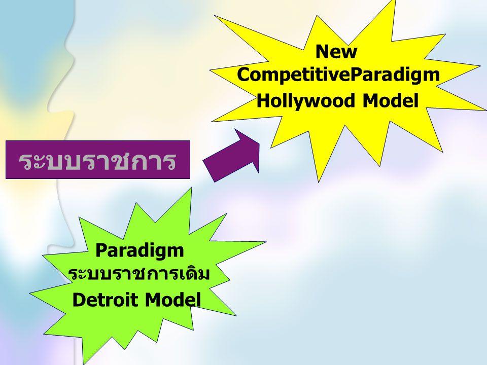 ระบบราชการ New CompetitiveParadigm Hollywood Model Paradigm