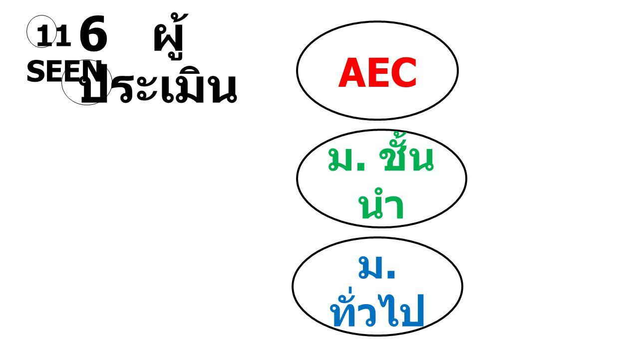 11 SEEN AEC 6 ผู้ประเมิน ม. ชั้นนำ ม. ทั่วไป