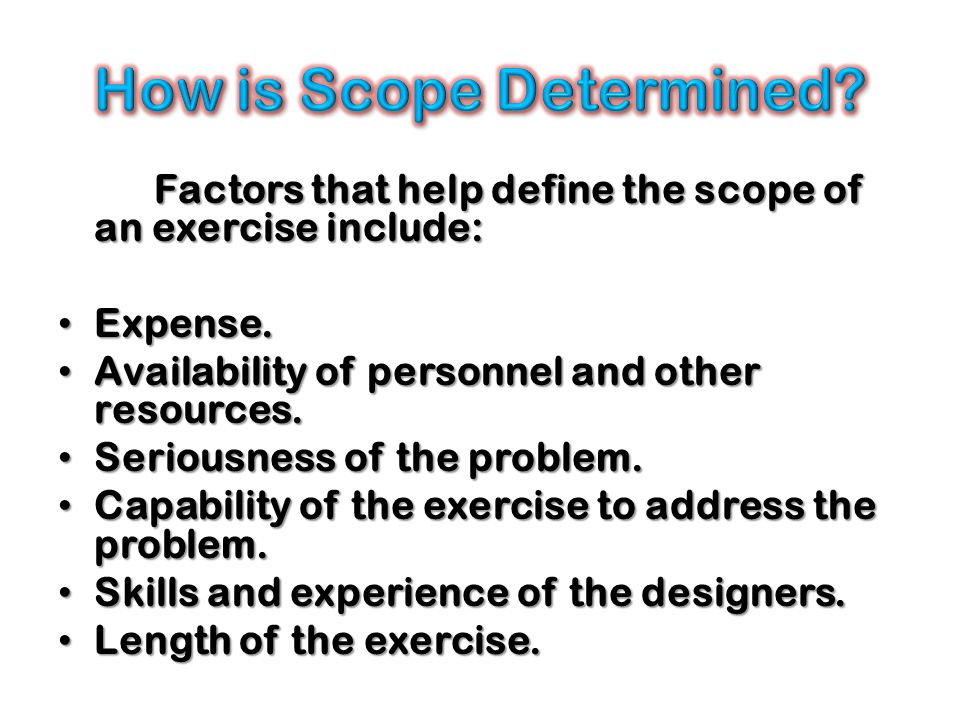 How is Scope Determined