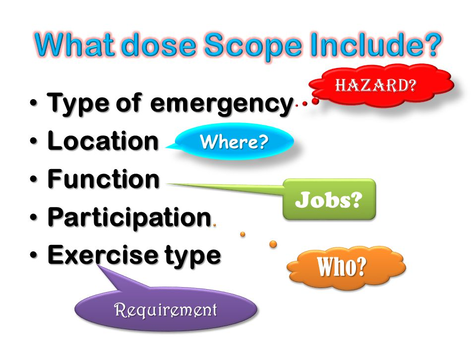 What dose Scope Include