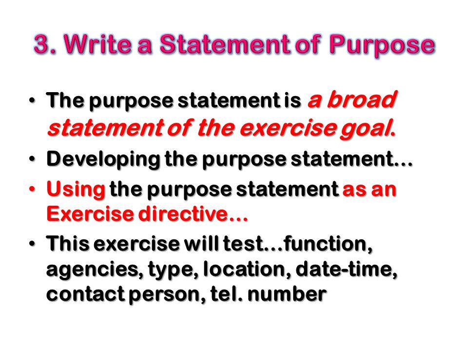 3. Write a Statement of Purpose
