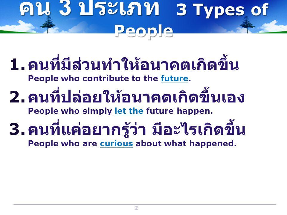 คน 3 ประเภท 3 Types of People