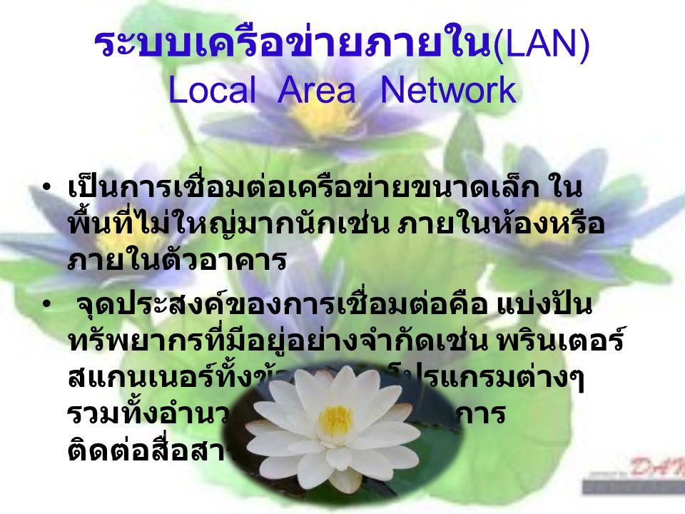 ระบบเครือข่ายภายใน(LAN) Local Area Network