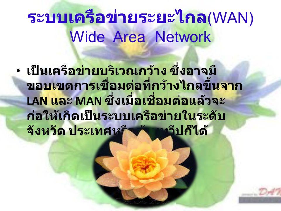 ระบบเครือข่ายระยะไกล(WAN) Wide Area Network