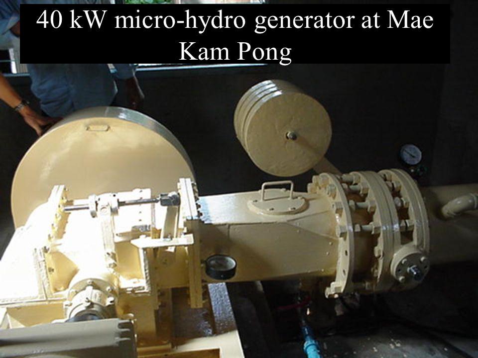 40 kW micro-hydro generator at Mae Kam Pong