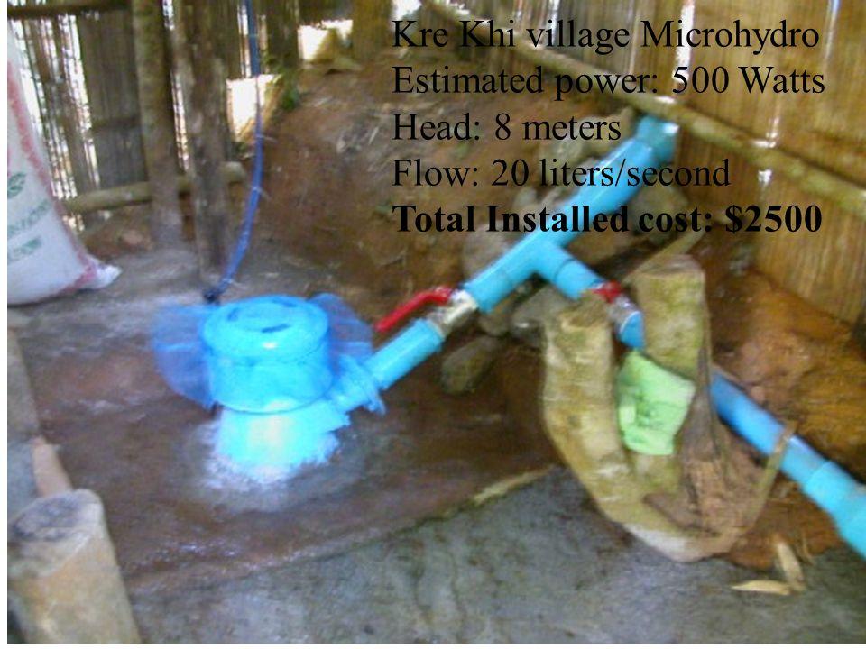 Kre Khi village Microhydro