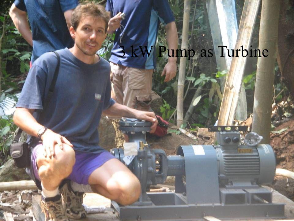 3 kW Pump as Turbine
