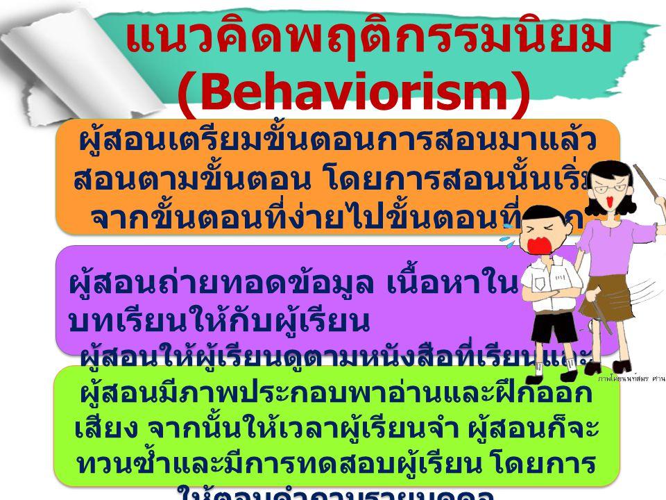 แนวคิดพฤติกรรมนิยม(Behaviorism)
