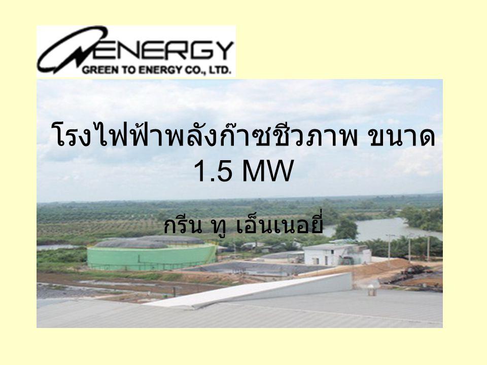 โรงไฟฟ้าพลังก๊าซชีวภาพ ขนาด 1.5 MW