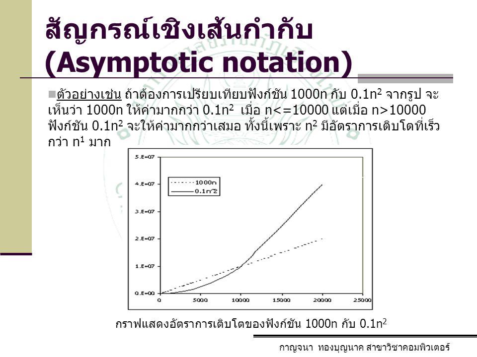 สัญกรณ์เชิงเส้นกำกับ (Asymptotic notation)