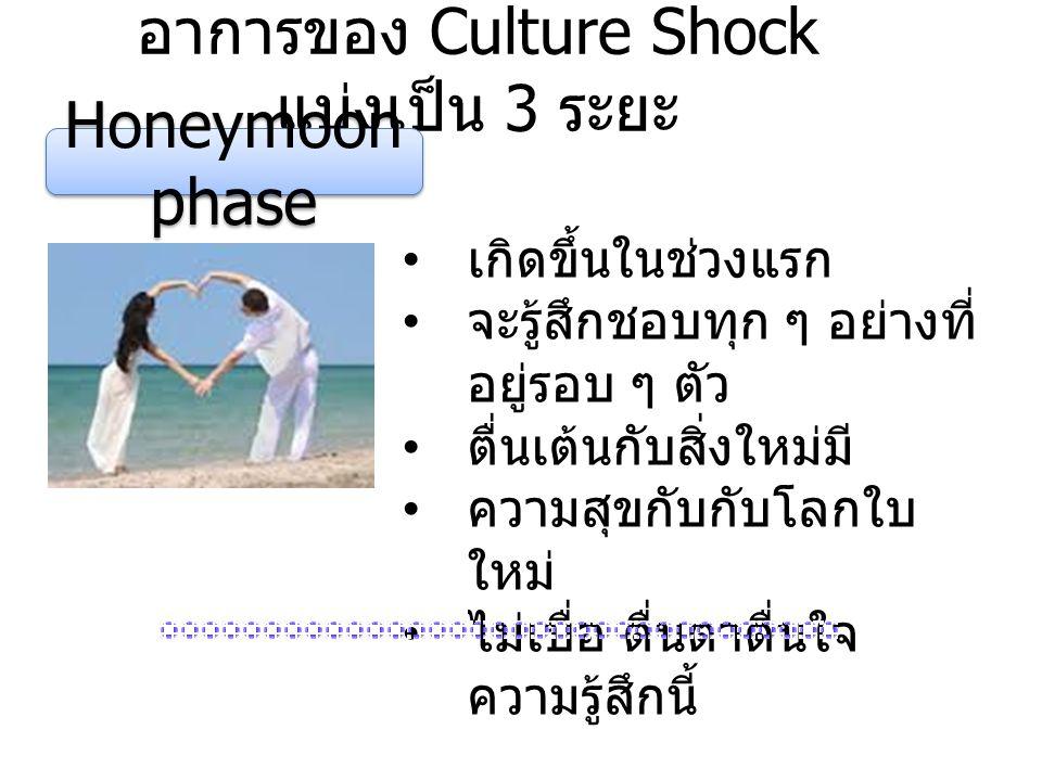 อาการของ Culture Shock แบ่งเป็น 3 ระยะ