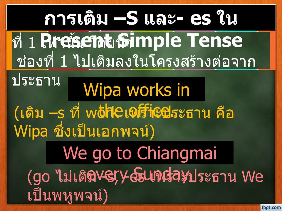 การเติม –S และ- es ใน Present Simple Tense