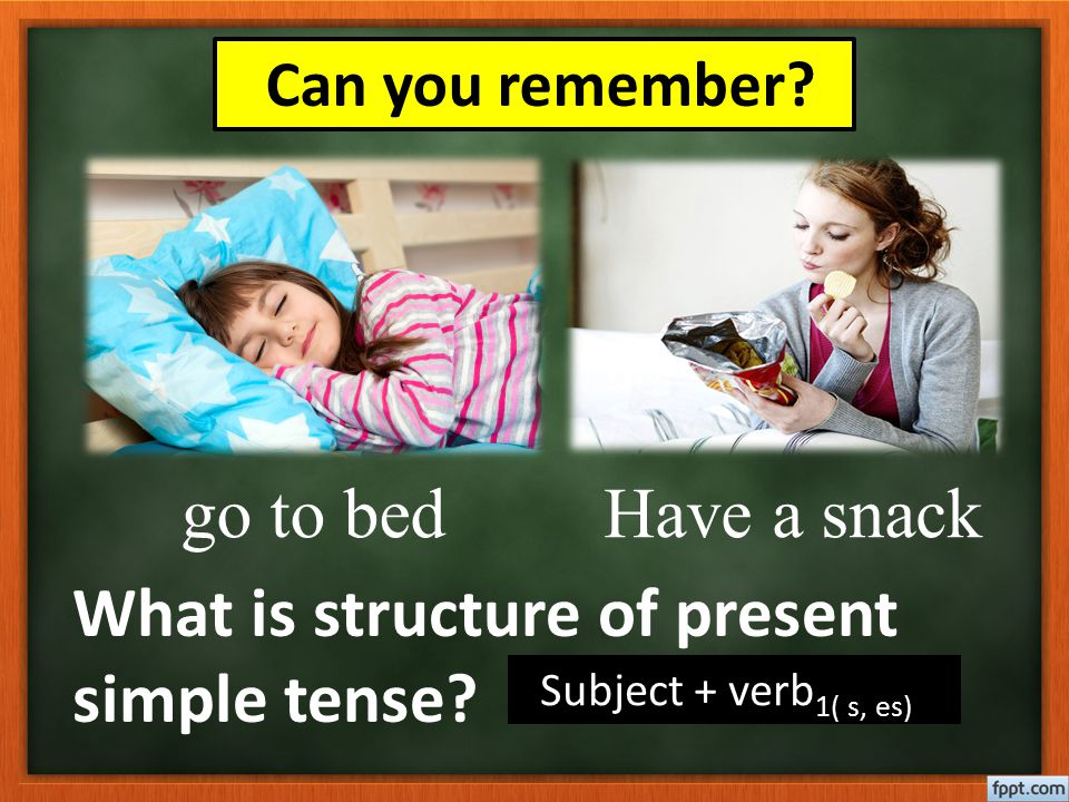 What is structure of present simple tense