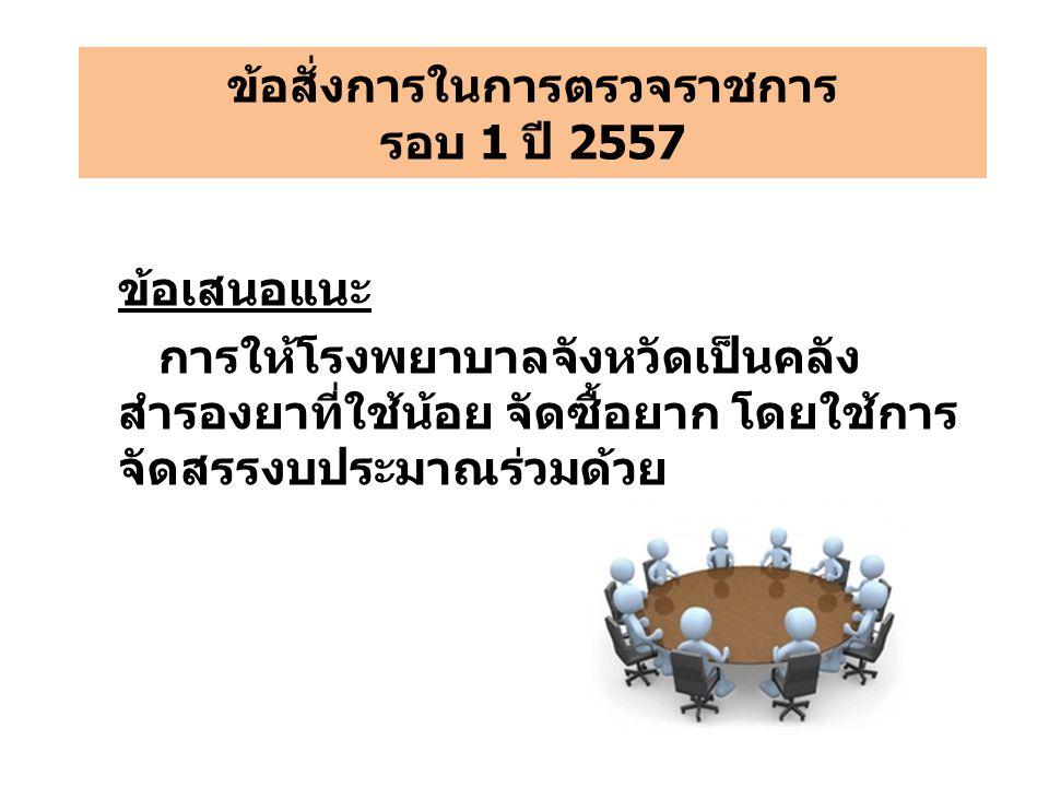 ข้อสั่งการในการตรวจราชการ รอบ 1 ปี 2557