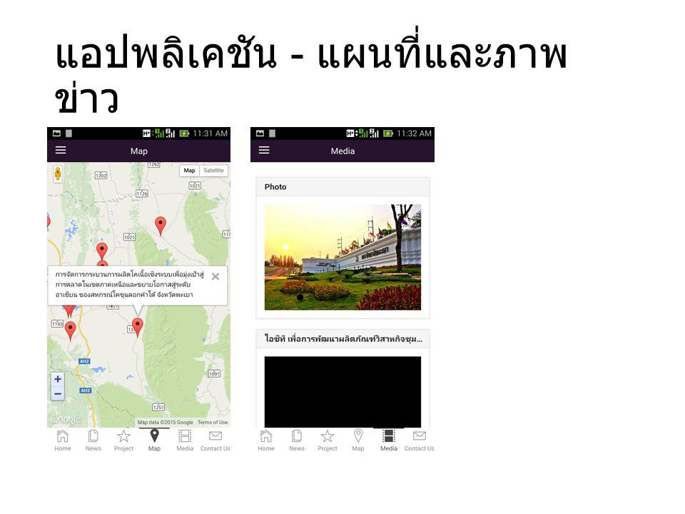 แอปพลิเคชัน - แผนที่และภาพข่าว