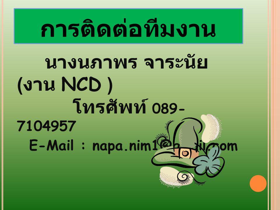 การติดต่อทีมงาน E-Mail : napa.nim1@gmail.com