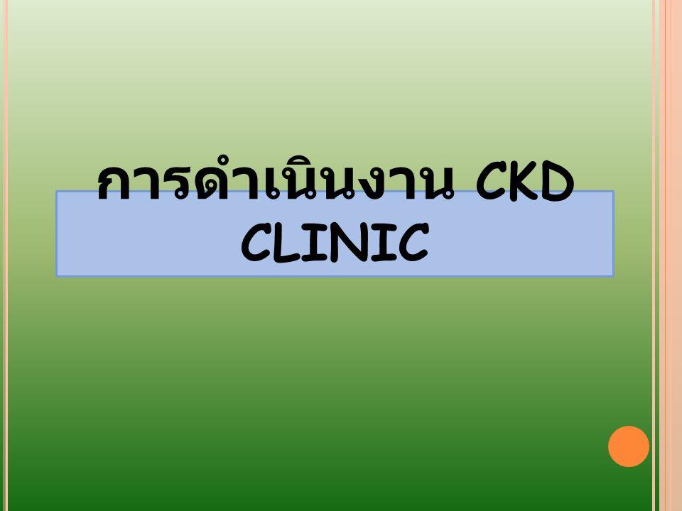 การดำเนินงาน CKD CLINIC