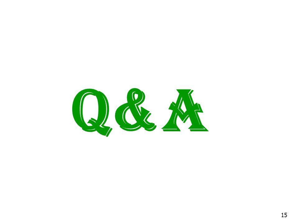 Q&A 15
