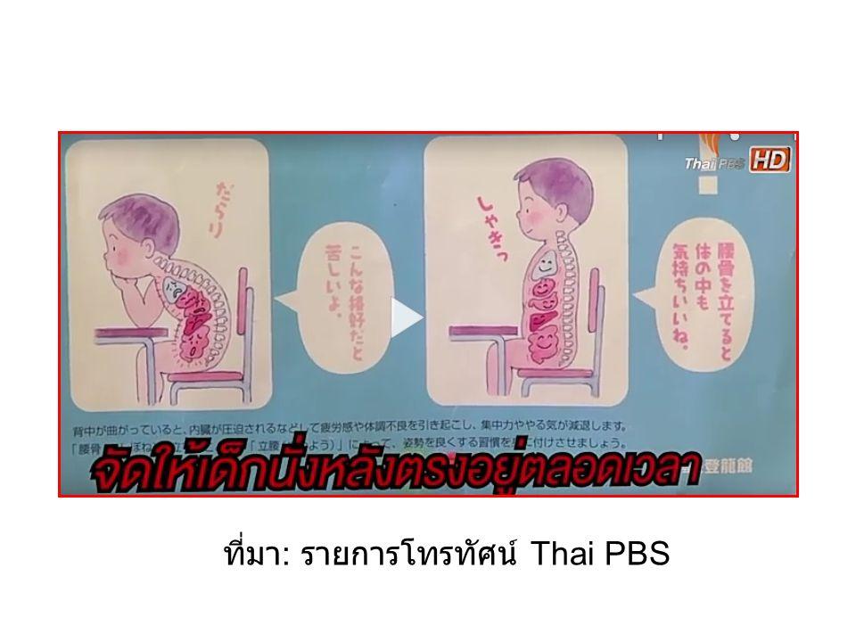 ที่มา: รายการโทรทัศน์ Thai PBS