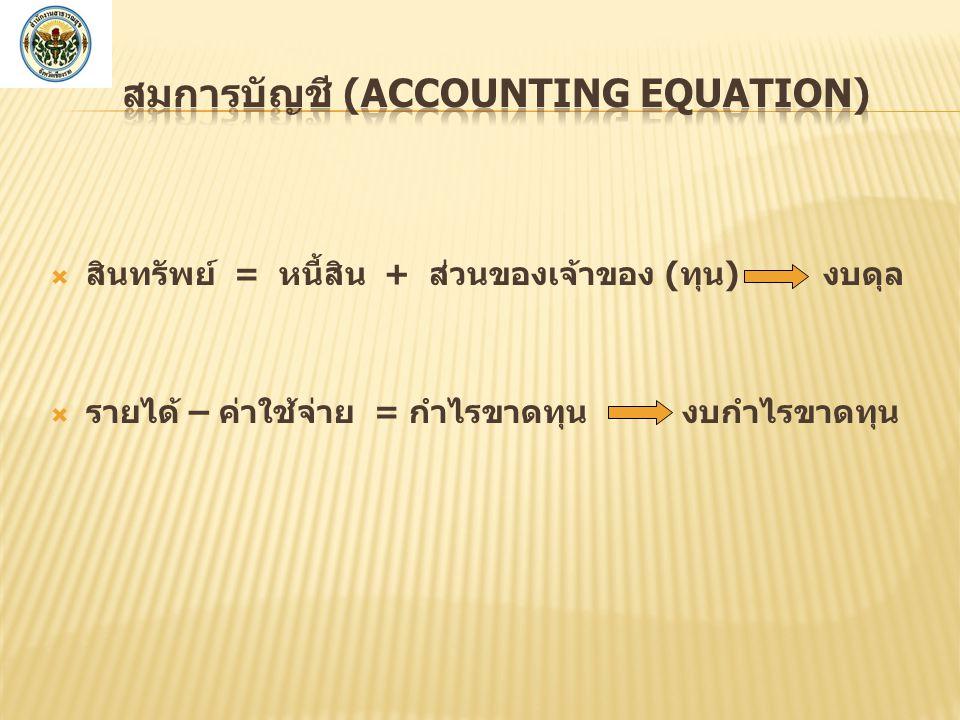 สมการบัญชี (Accounting Equation)