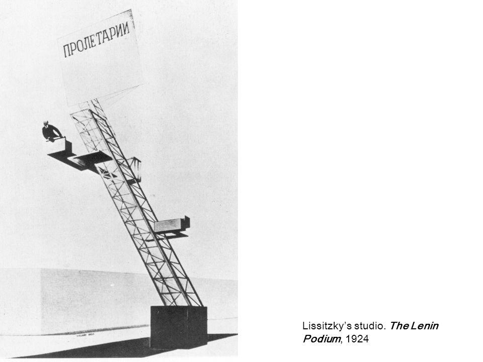 Lissitzky's studio. The Lenin Podium, 1924