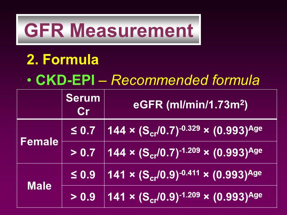 2. Formula CKD-EPI – Recommended formula