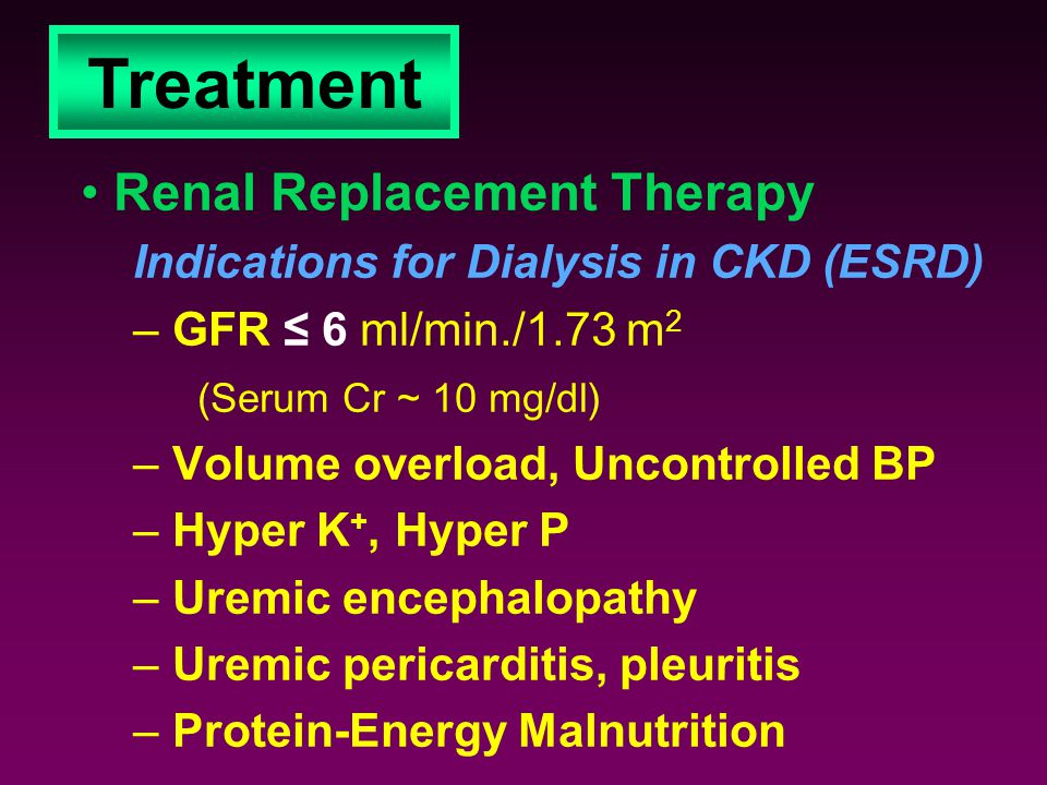 Treatment Renal Replacement Therapy