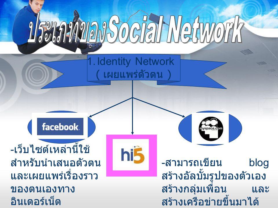 ประเภทของSocial Network