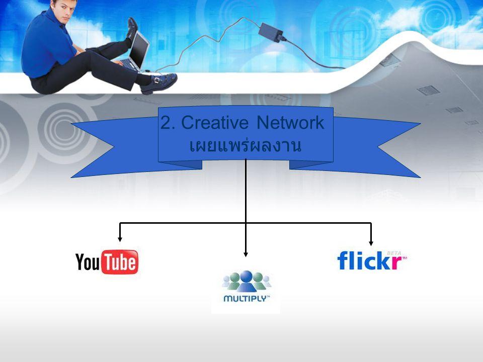 2. Creative Network เผยแพร่ผลงาน