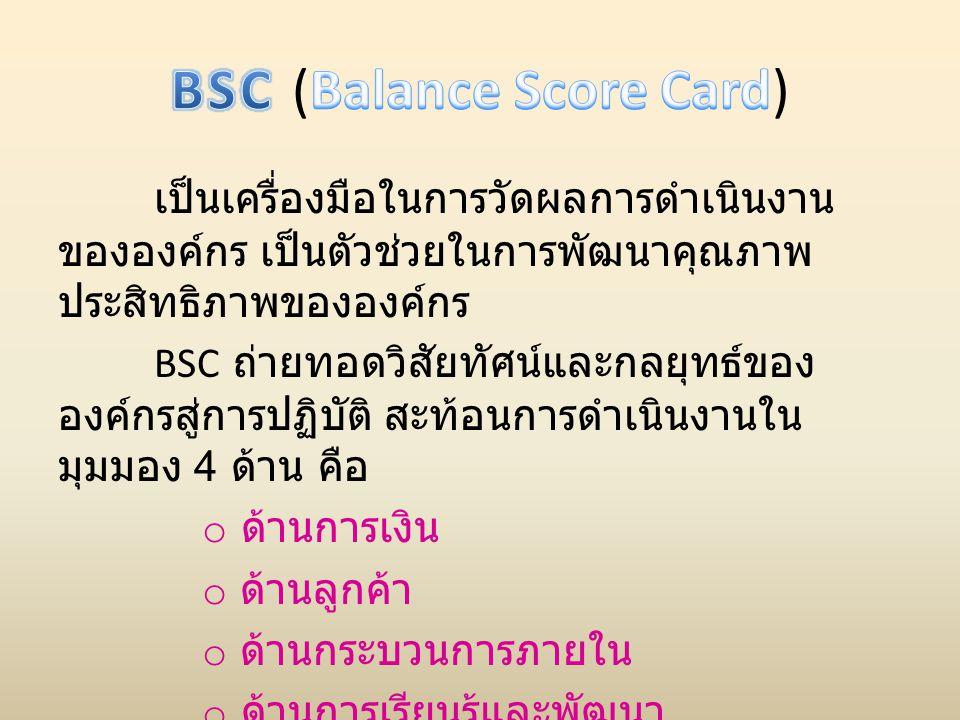 BSC (Balance Score Card)