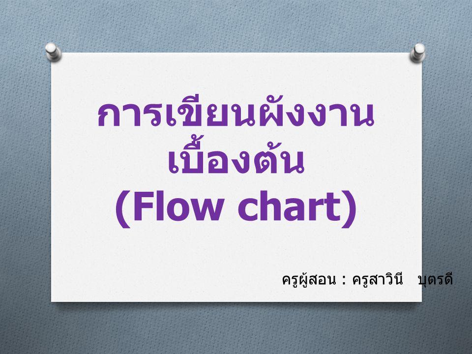 การเขียนผังงานเบื้องต้น (Flow chart)