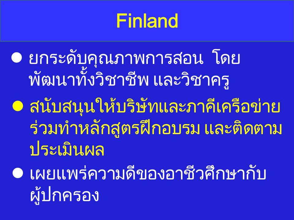 Finland ยกระดับคุณภาพการสอน โดยพัฒนาทั้งวิชาชีพ และวิชาครู