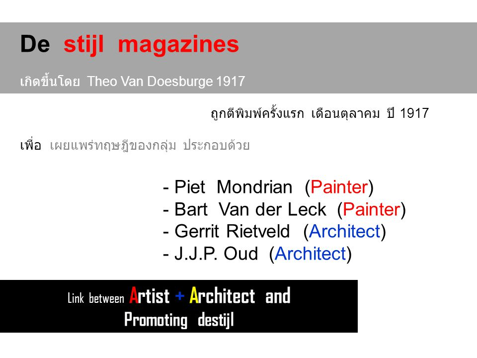 Link between Artist + Architect and