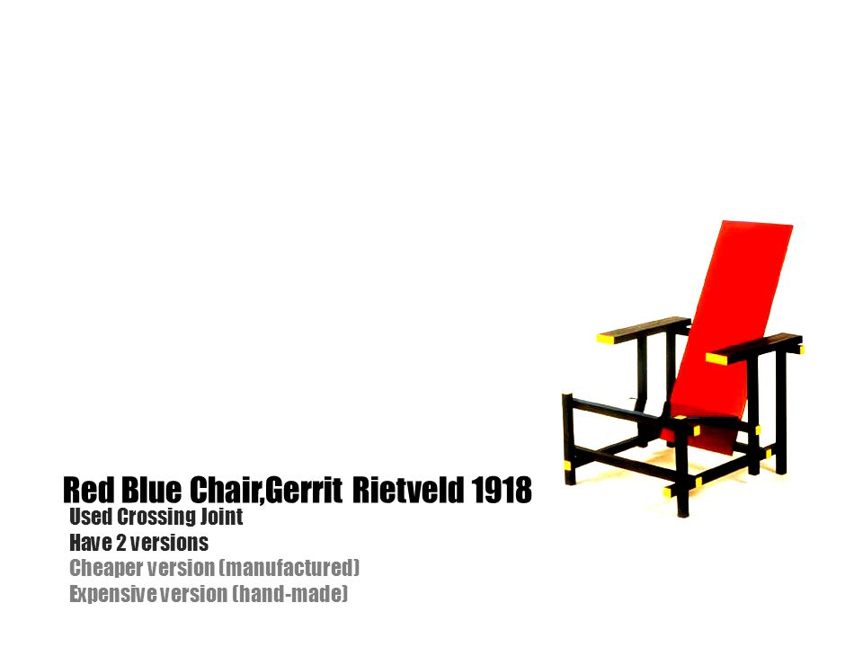 Red Blue Chair,Gerrit Rietveld 1918