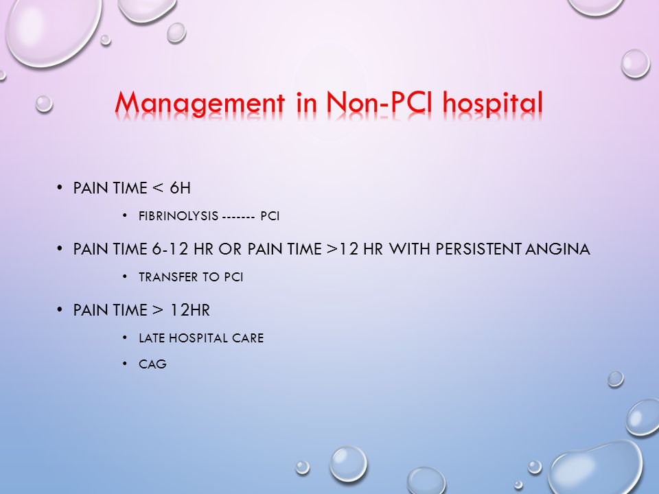 Management in Non-PCI hospital