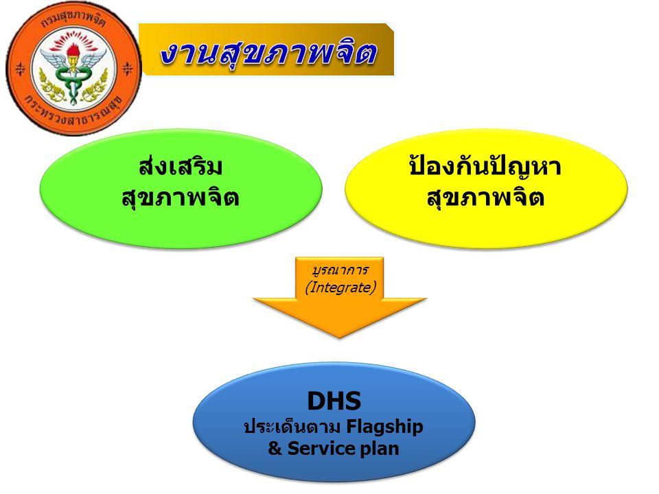 ป้องกันปัญหาสุขภาพจิต ประเด็นตาม Flagship & Service plan
