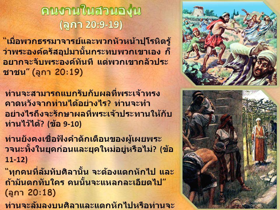 คนงานในสวนองุ่น (ลูกา 20:9-19)