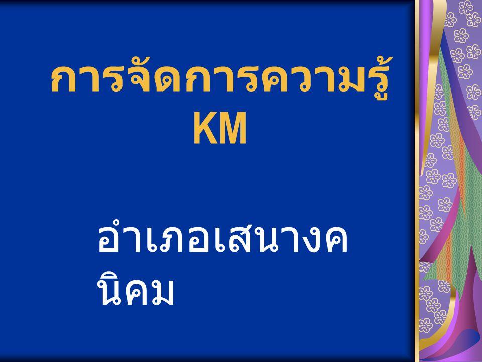 การจัดการความรู้ KM อำเภอเสนางคนิคม