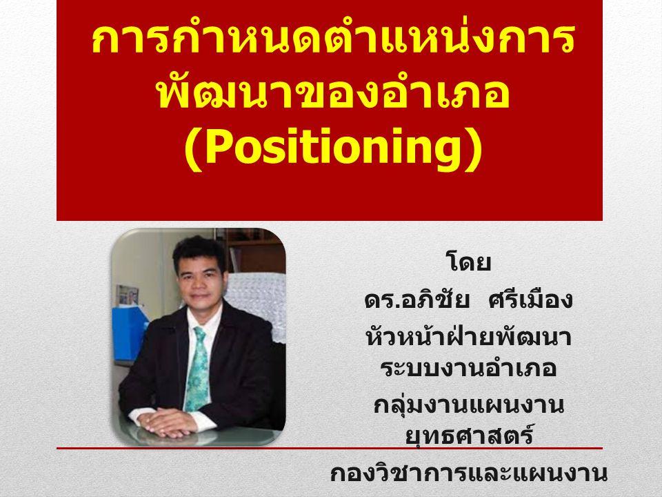 การกำหนดตำแหน่งการพัฒนาของอำเภอ (Positioning)