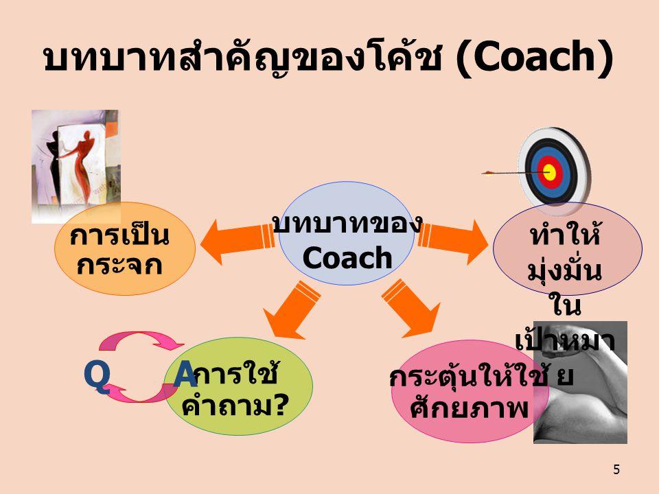 บทบาทสำคัญของโค้ช (Coach)