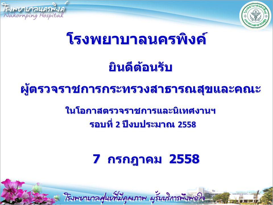 ตรวจราชการ รพ.นครพิงค์ รอบที่ 1_2558 20/03/58