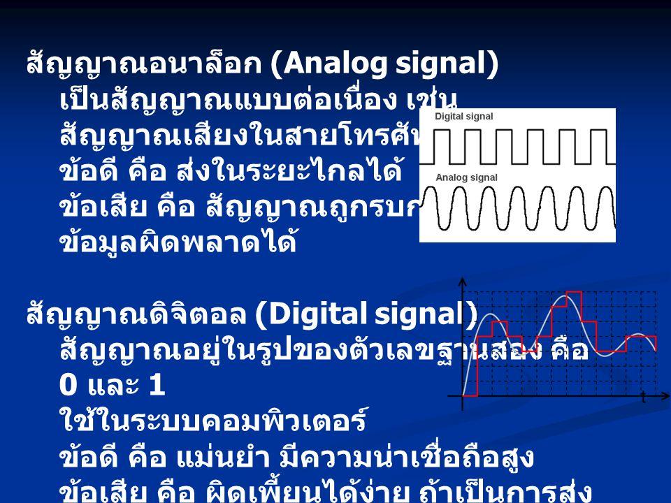 สัญญาณอนาล็อก (Analog signal)