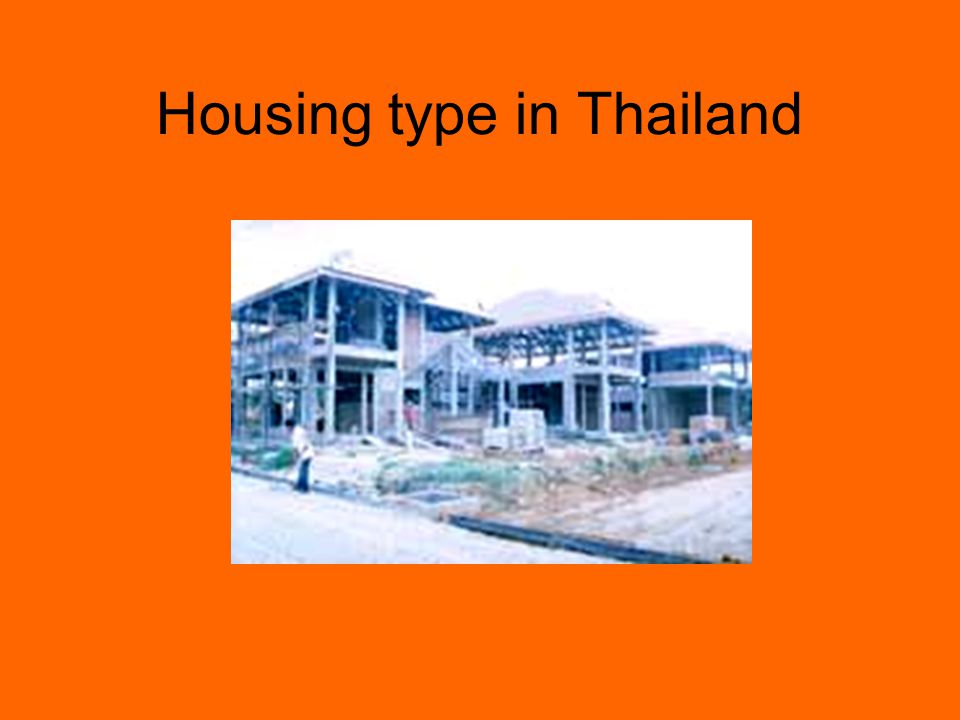 Housing type in Thailand