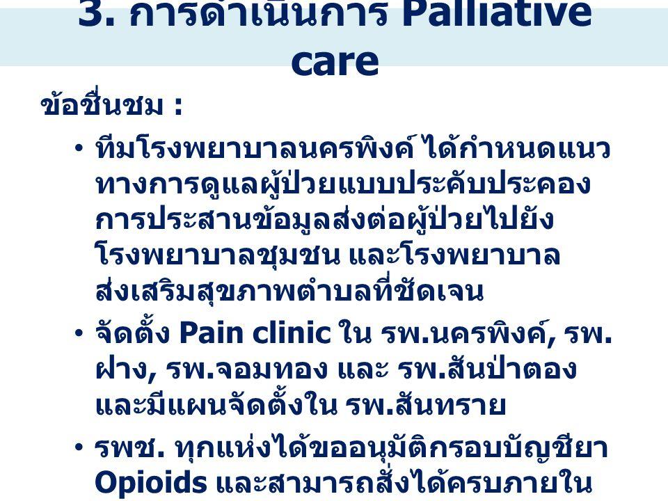 3. การดำเนินการ Palliative care