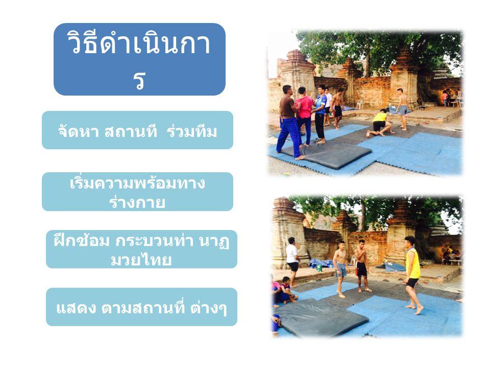 เริ่มความพร้อมทาง ร่างกาย ฝึกซ้อม กระบวนท่า นาฏมวยไทย