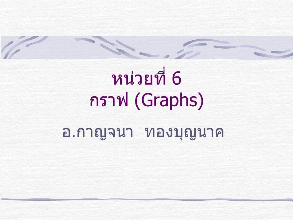 หน่วยที่ 6 กราฟ (Graphs)