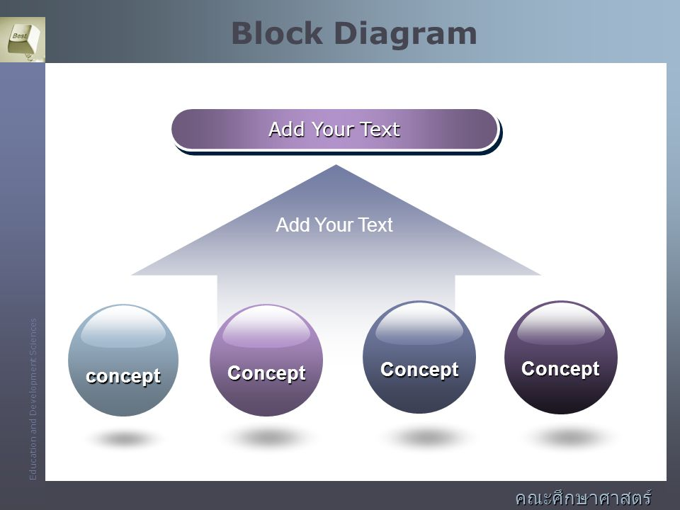 Block Diagram Add Your Text Concept concept